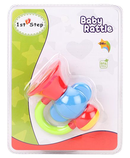 1st Step Trumpet Rattle- Multicolor