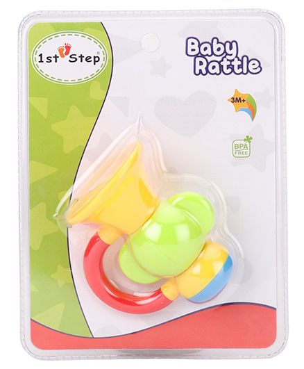 1st Step Trumpet Rattle - Yellow and Green