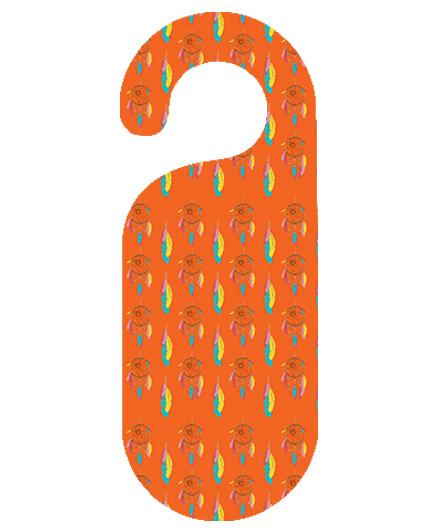 The Crazy Me Dream Catcher Printed Door Hanger - Orange