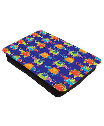 The Crazy Me Elephant Printed Lap Tray - Dark Blue