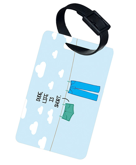 The Crazy Me Life Is Short Luggage Tag - Light Blue