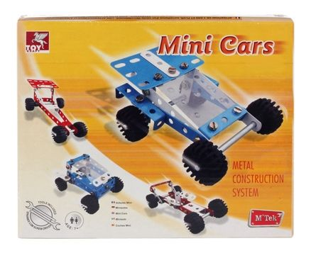 Toy Kraft - Metal Construction System - Mini Cars