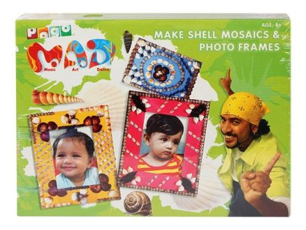 Pogo Mad - Make Shell Mosaics & Photo Frames 6 Years+, Shell Craft Items