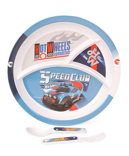Cello Homeware Hotwheels Kids Feeding Set 3 Piece - Blue