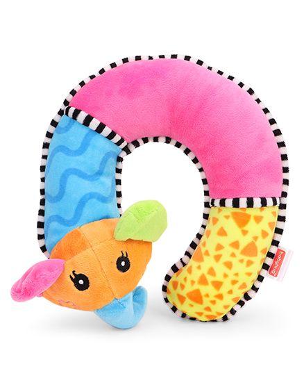 Babyhug Baby Neck Support Pillow Animal Applique Multicolour - 29 cm