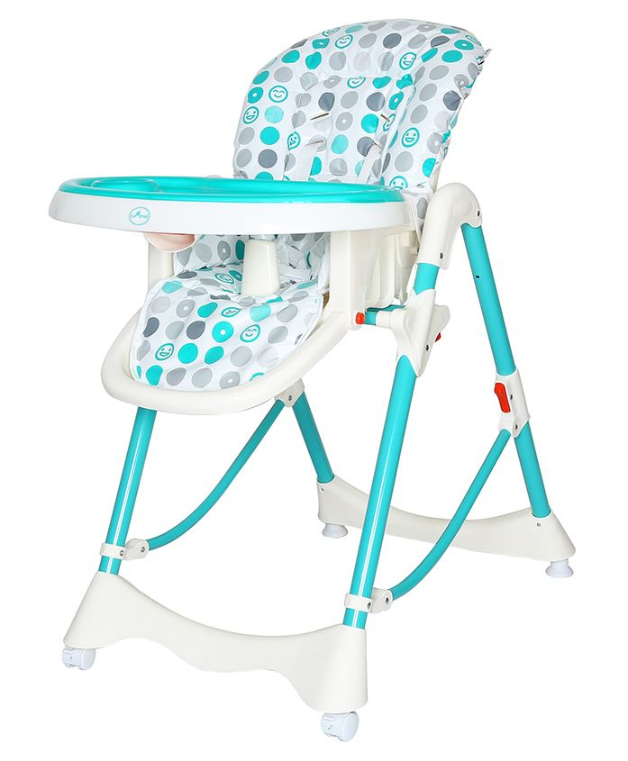 1st Step Height Adjustable High Chair Sea Green - ST 1086