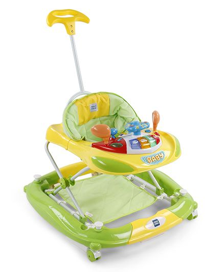 Mee Mee Walker Cum Rocker With Push Handle - Green Yellow