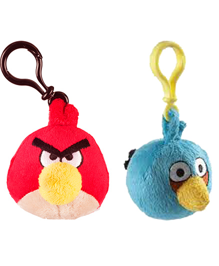 Angry Birds Back Pack Clip Pack Of 2 - Red Blue