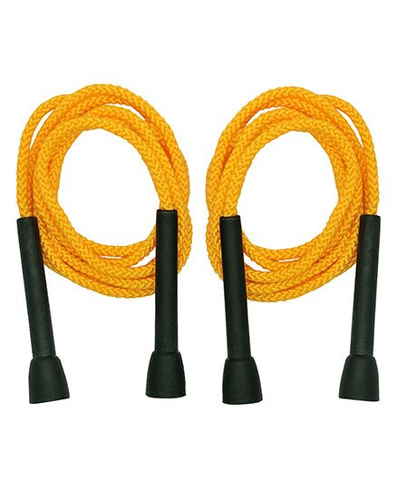 GSI Pair Of PP Skipping Ropes For Cardio And Fitness - Yellow