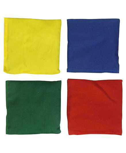 GSI Pack Of 4 Plain Toss Bean Bags For Activity Games And Primary Education - Multicolor