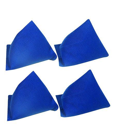 GSI Pack of 4 Pyramid Toss Bean Bags For Activity Games And Primary Education - Blue