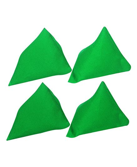 GSI Pack of 4 Pyramid Toss Bean Bags For Activity Games And Primary Education - Green