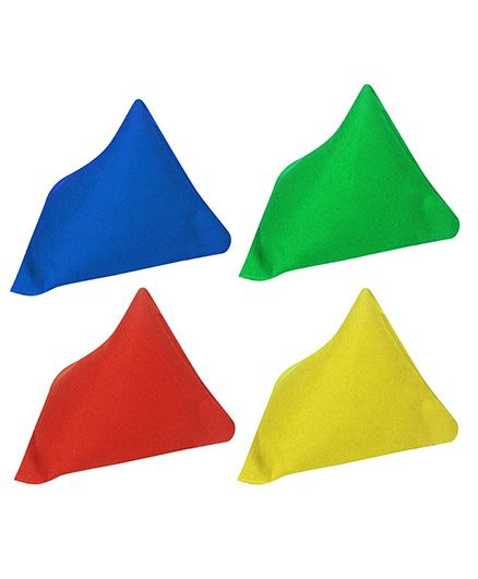 GSI Pack of 4 Pyramid Toss Bean Bags For Activity Games And Primary Education - Multicolor