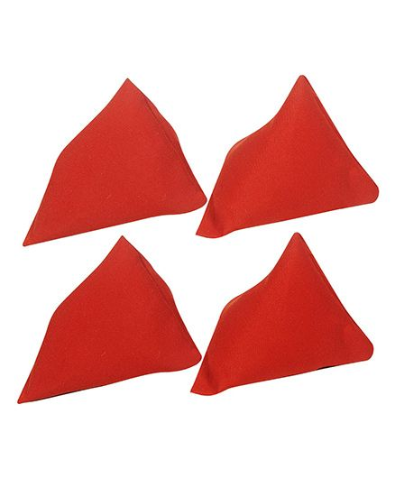 GSI Pack of 4 Pyramid Toss Bean Bags For Activity Games And Primary Education - Red