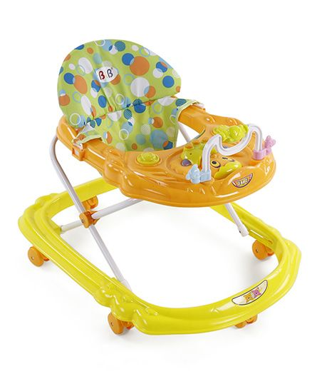 Musical Baby Walker - Yellow Orange