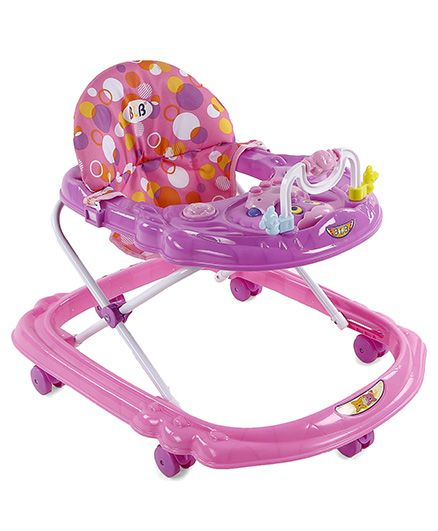Musical Baby Walker - Pink Purple