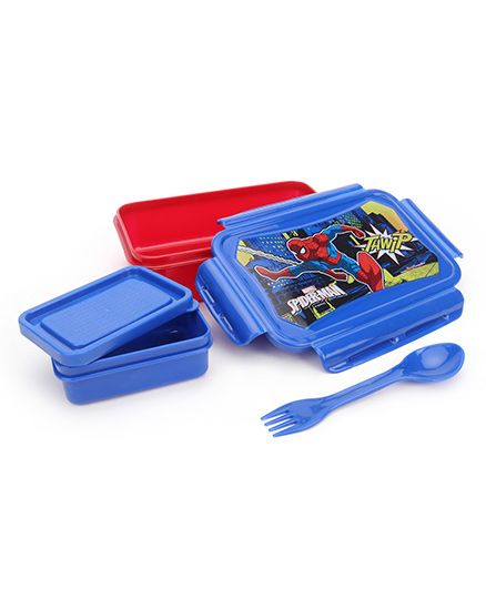 Marvel Spider Man Lunch Box - Red Blue