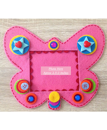 Kalacaree Butterfly Design Magnetic Photo Frame - Pink