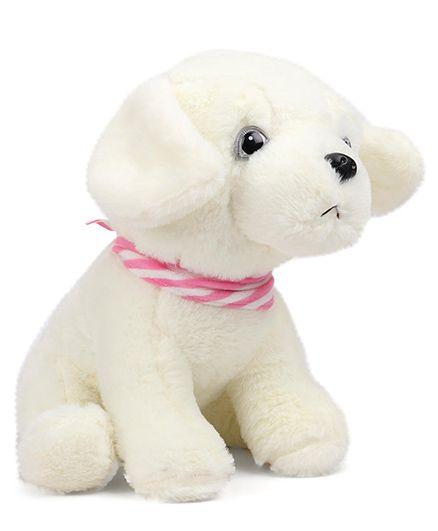 ebfcc1e7ed0 Dimpy Stuff Comfy Super Soft Dog With Muffler Cream