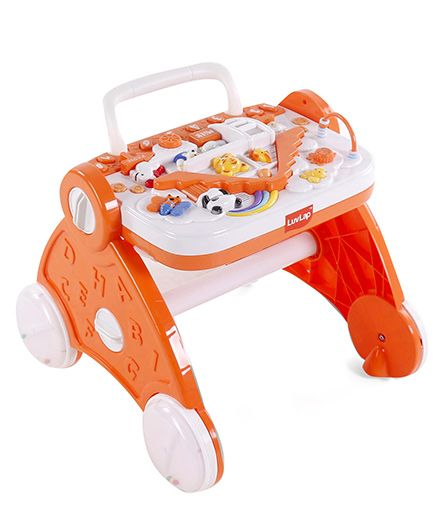 Luv Lap Baby Musical Activity Walker - Orange