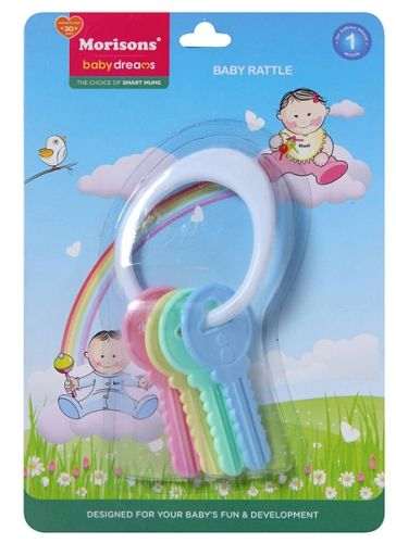 Baby Dreams Baby Rattle Keys 1 Month, Take Care Of Your Baby's Gums In A Gentle M...
