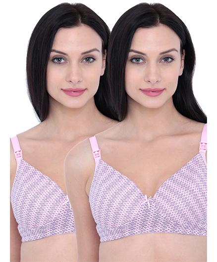 Inner Sense Organic Antimicrobial Nursing Bra Pack Of 2 - Pink