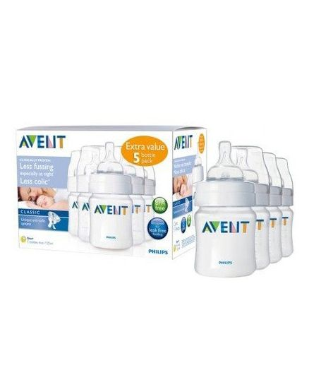 Philips Avent Natural Feeding Bottles Pack Of 5 - 120ml