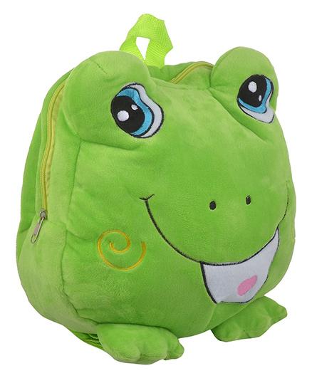 Soft Buddies Plush Soft Toy Bag With Froggy Design Green - 38.1 Cm