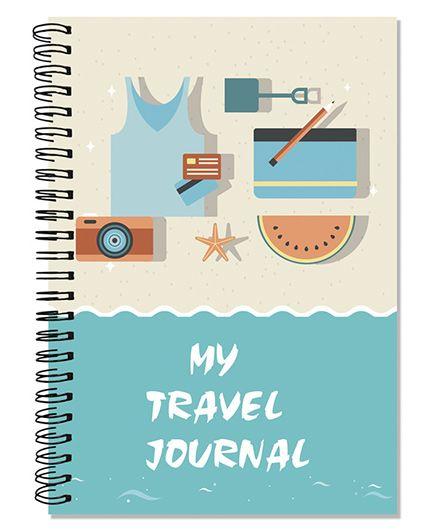 Little Jamun Travel Journal Beach Theme - Blue