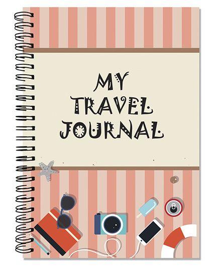 Little Jamun Travel Journal Beach Theme - Peach