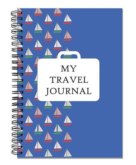 Little Jamun Travel Journal Boat Theme - Blue