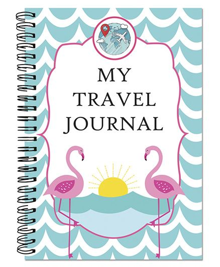 Little Jamun Travel Journal Flamingo Theme