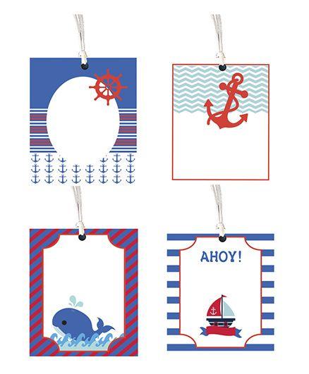 Nautical Theme Gift Tag - Set Of 8