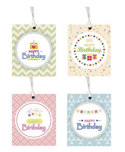 Happy Birthday Gift Tag - Set of 8