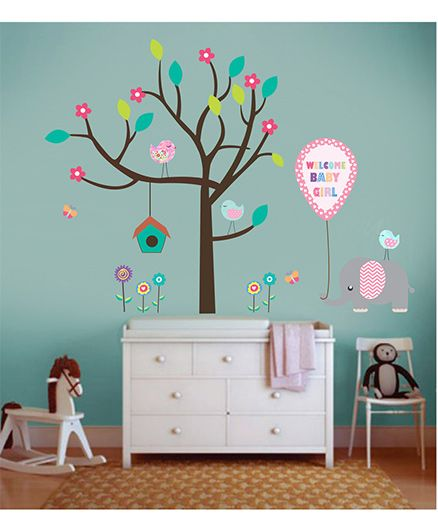 Little Jamun Welcome Wall Sticker Multi Color - Medium Size