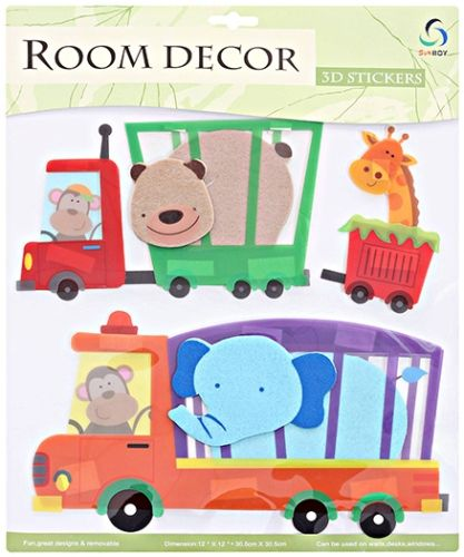 Room Decor 3D Stickers - Elephant & Bear