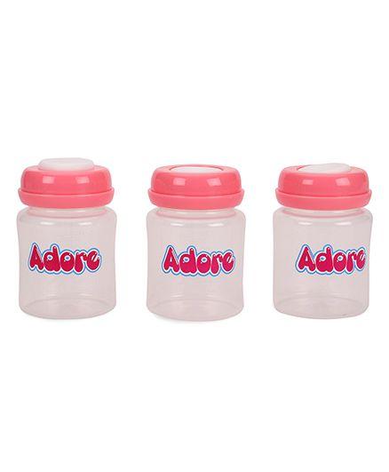 Adore Milk Storage Bottles Pink Pack Of 3 - 150 ML