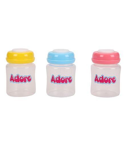 Adore Milk Storage Bottles Multicolor Pack Of 3 - 150 ML