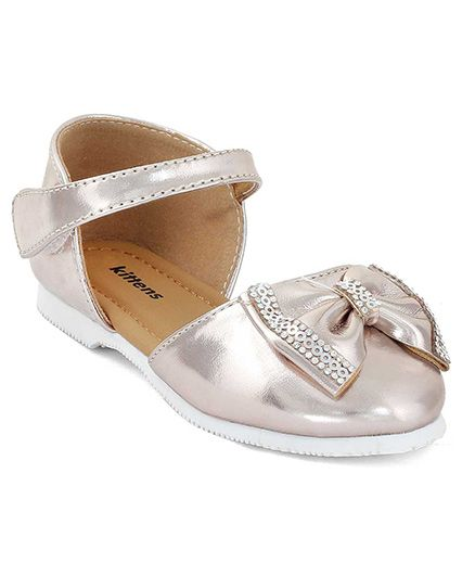 Kittens Shoes Sandals Embellished Bow - Silver