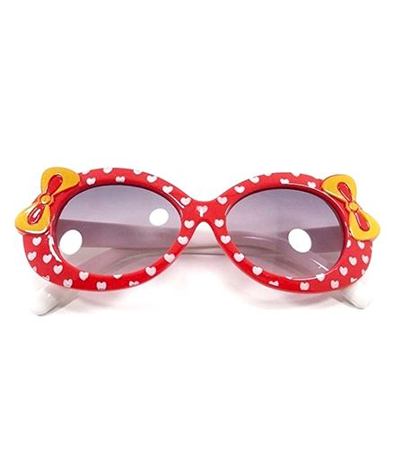Miss Diva Cute Double Bow Sunglasses - Red & White