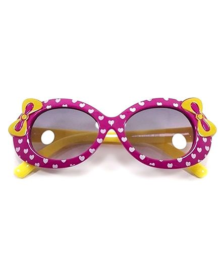 Miss Diva Cute Double Bow Sunglasses - Purple & Yellow