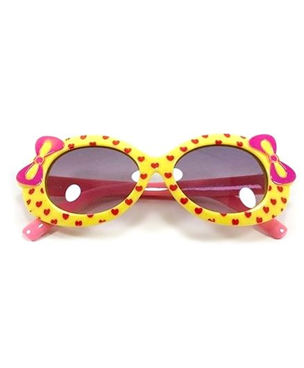 Miss Diva Cute Double Bow Sunglasses - Yellow & Pink