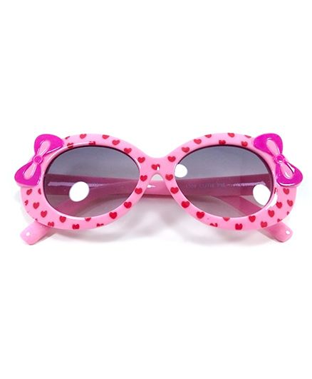 Miss Diva Cute Double Bow Sunglasses - Pink