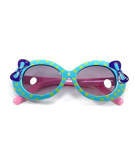 Miss Diva Cute Double Bow Sunglasses - Turquoise & Pink