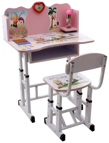Study Table Chair Set : Fab N Funky Study Table With Chair Set Pink Online in India, Buy at ...