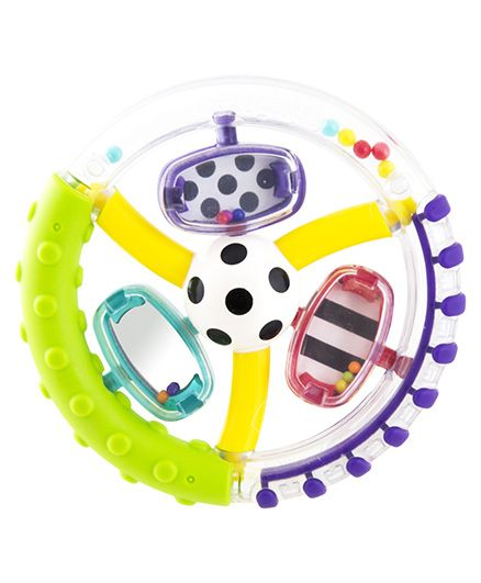 Sassy Wonder Wheel Ring Rattle - Multicolor