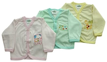 Babyhug Striped Full Sleeves Vest