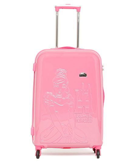 Disney Princess Emboss Kids Luggage Trolley Bag Red - 24 inches