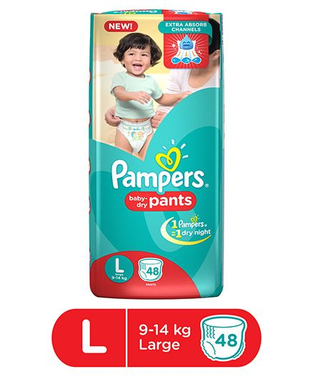 Pampers New Pants Style Baby Diapers, L 48 Pieces