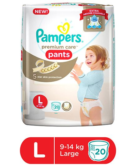Pampers Premium Care Pant Style Diapers Large - 20 Pieces